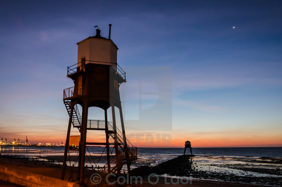 """Dawn at Dovercourt"" stock image"