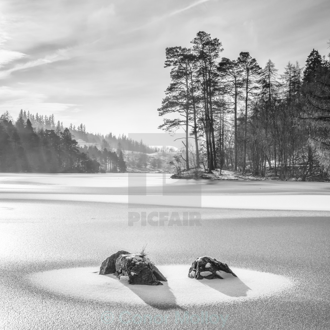 """Frozen lake"" stock image"