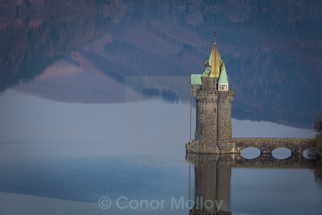 """Vyrnwy castle"" stock image"