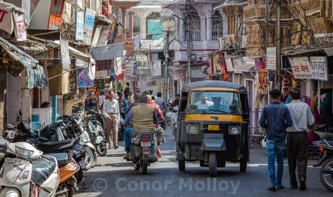 """Streets of Udaipur"" stock image"