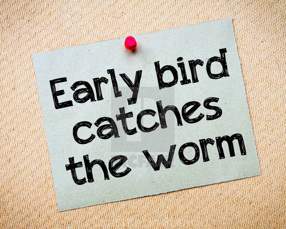 Early bird catches the worm - License, download or print for
