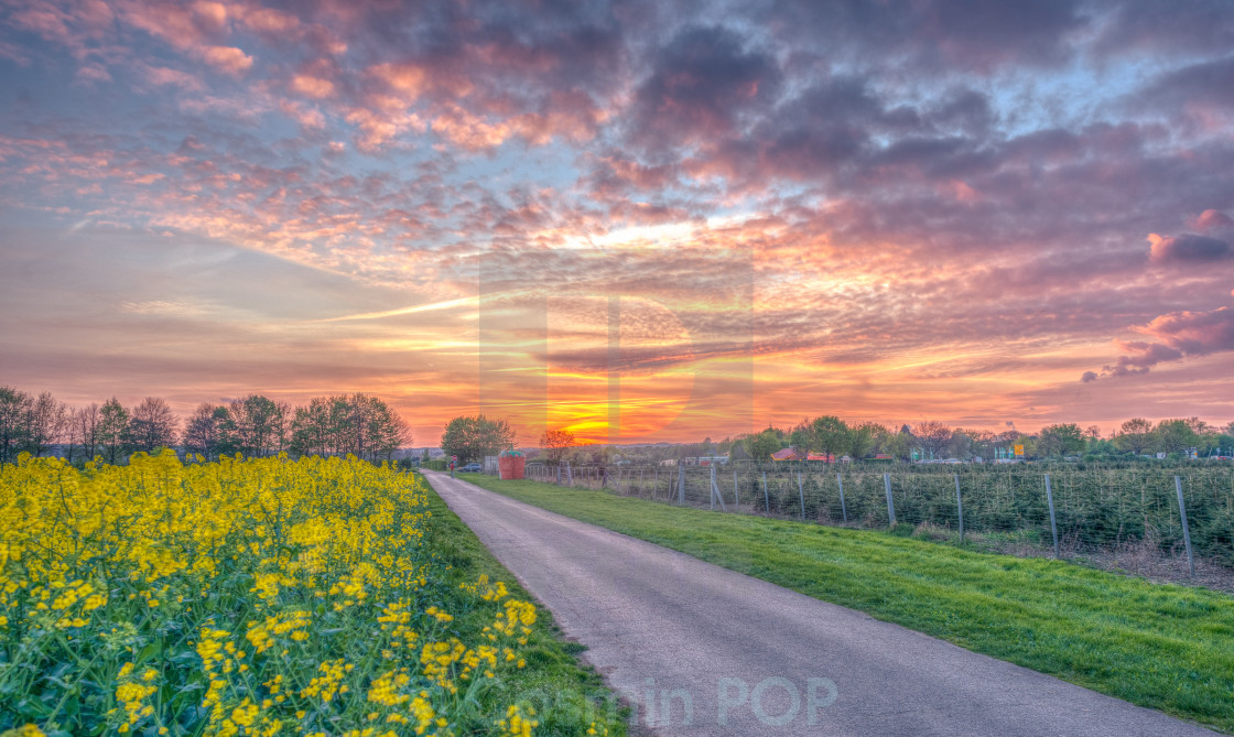 """Sunset HDR"" stock image"