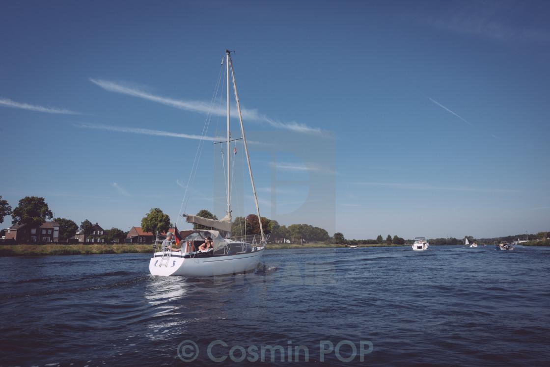 """White Boat"" stock image"