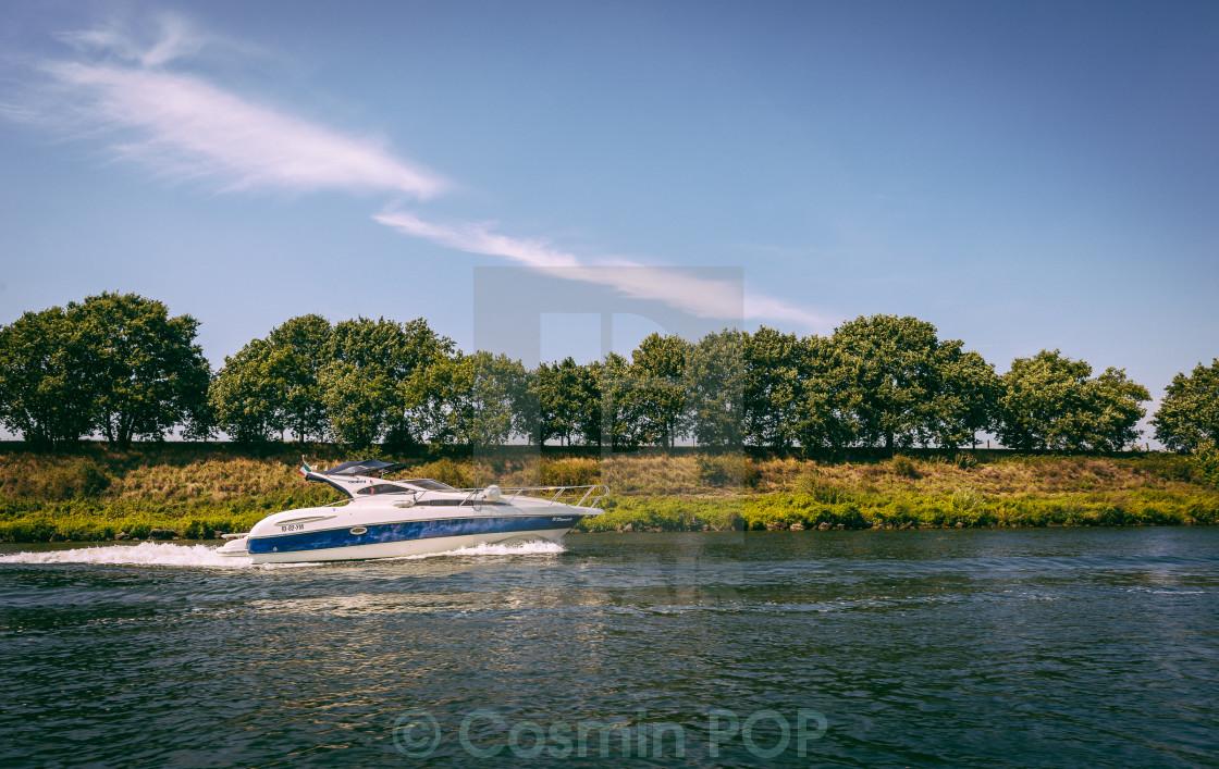 """Speeding Boat"" stock image"