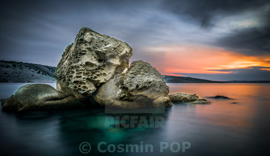 """The lonely rock"" stock image"