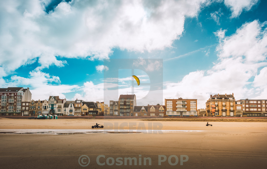"""Kite Buggying"" stock image"