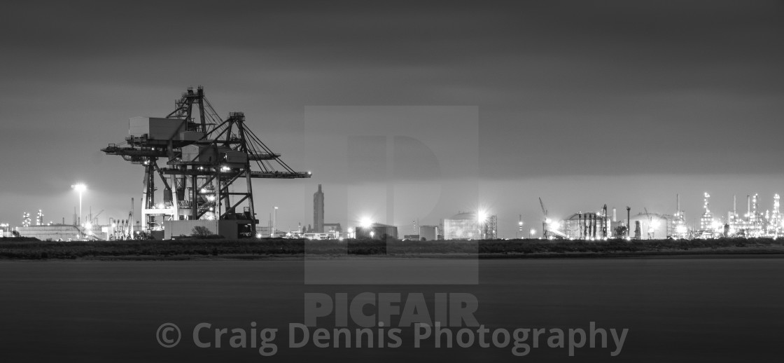 """""""Tees Dock - Middlesbrough"""" stock image"""
