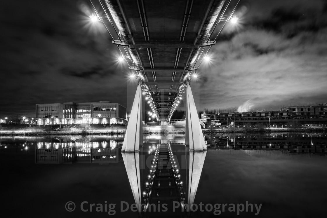 """Infinity Bridge - Stockton on Tees"" stock image"