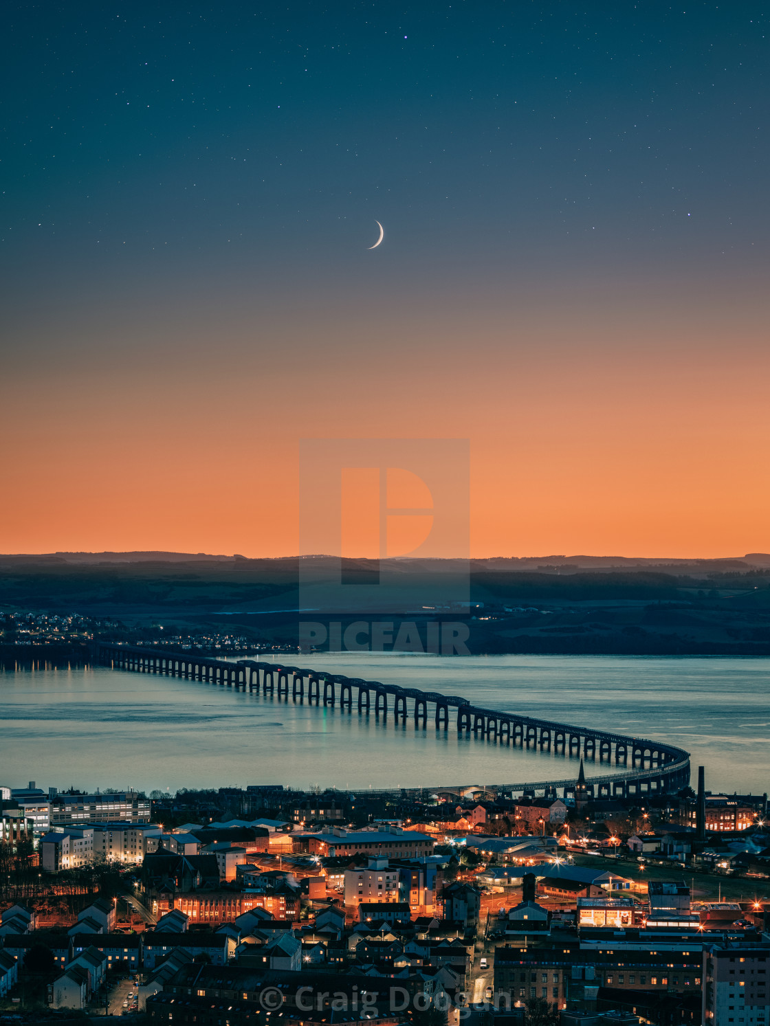 """Dundee City Moonscape"" stock image"