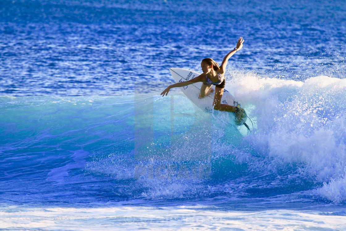 """""""Ballerina Surfing"""" stock image"""