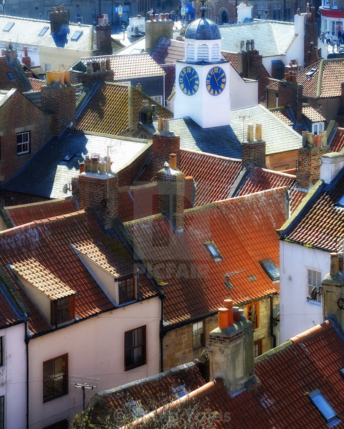 """Whitby Rooftops."" stock image"