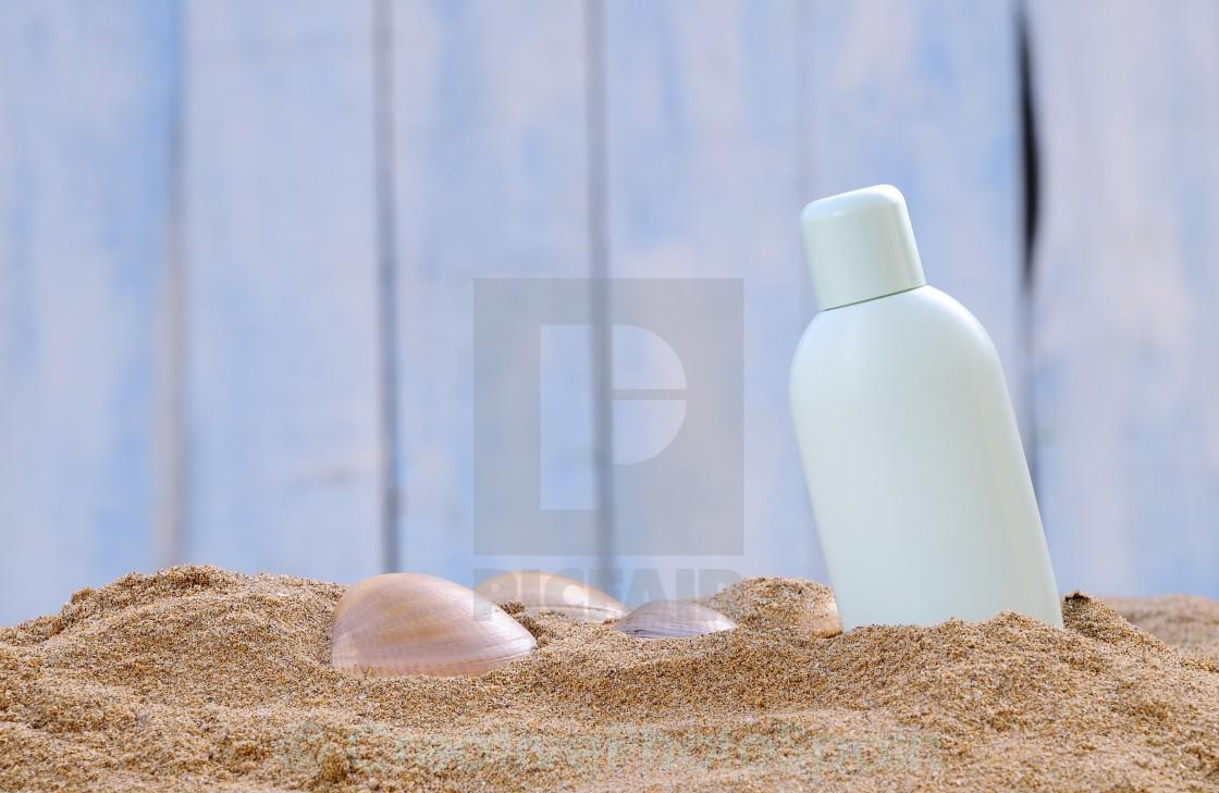 """Sunscreen."" stock image"