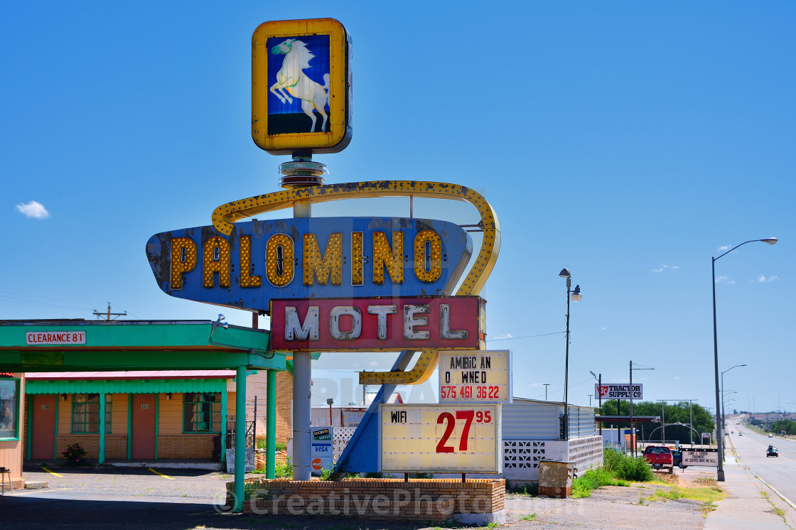 """Palomino Motel on Historic Route 66."" stock image"