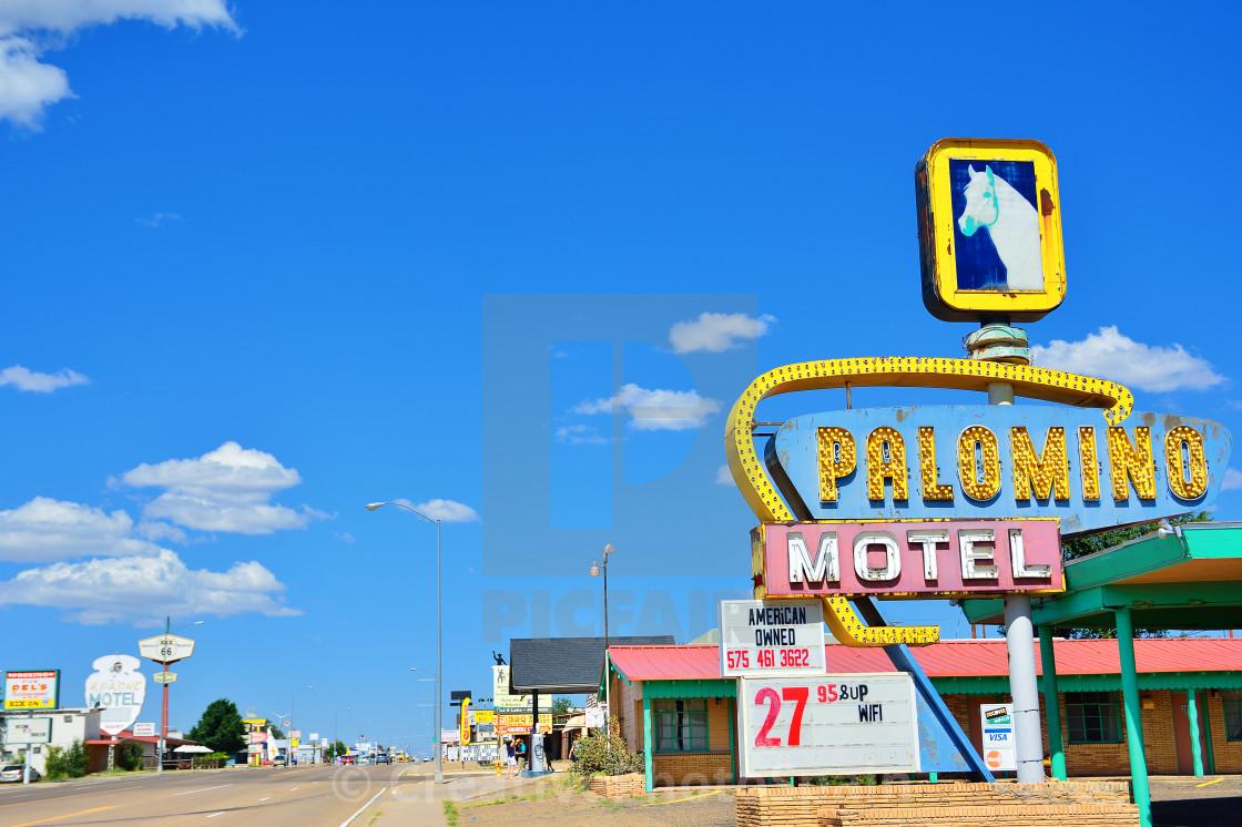 """Palomino Motel on Historic Route 66."" stock image"