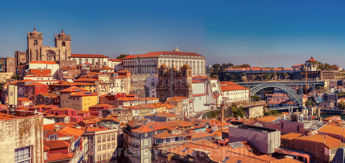 """Historic center of Porto in Portugal."" stock image"