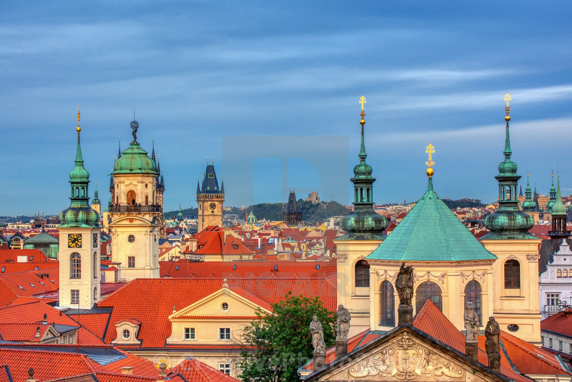 """View of colorful old town in Prague."" stock image"