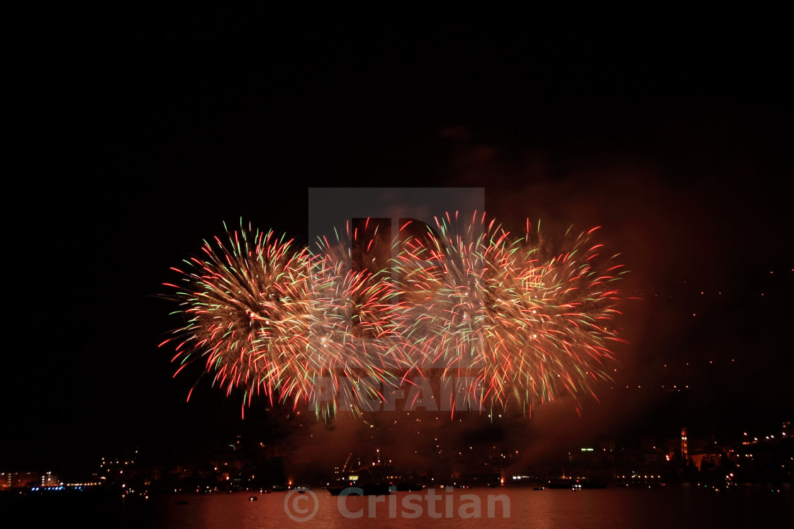 """Colored Fireworks Show"" stock image"