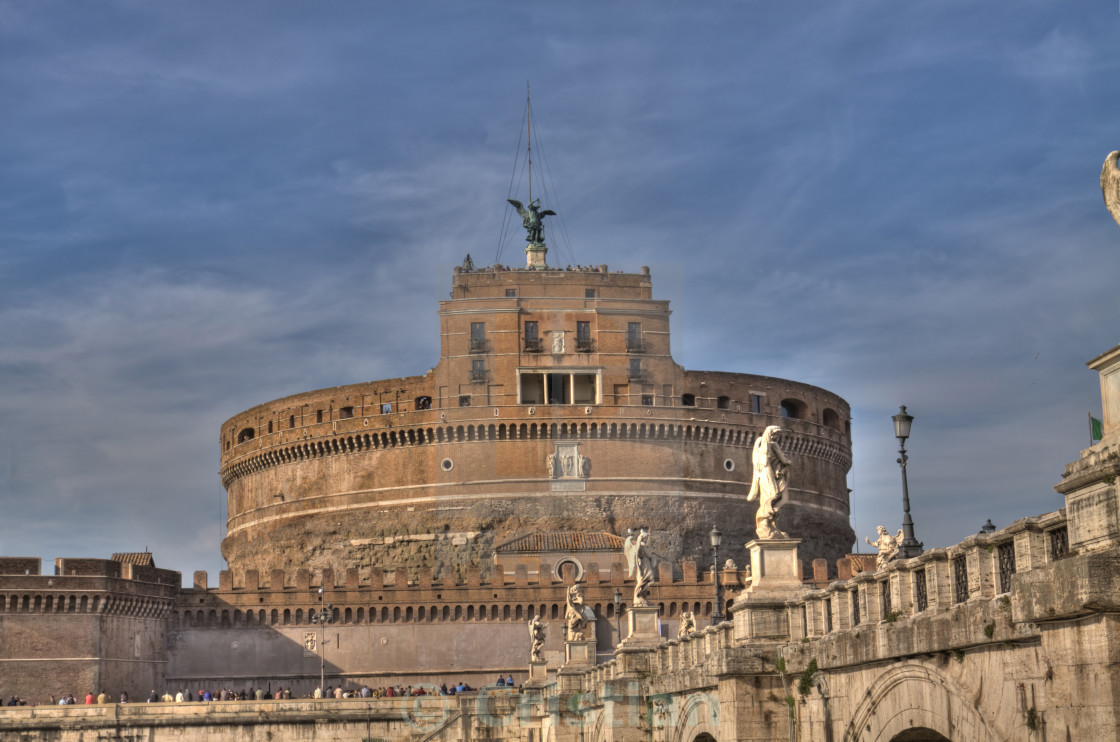 """St. Angel Castle in Rome"" stock image"