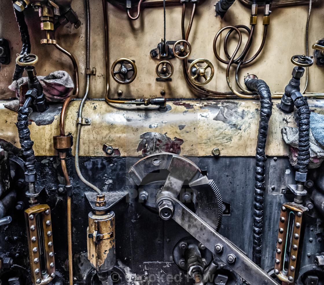 """Steam Punk Locomotive"" stock image"