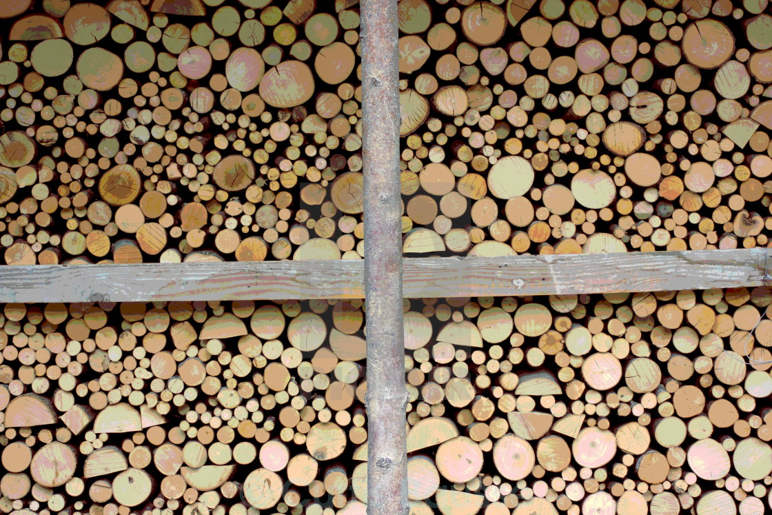 """Stack of wood"" stock image"
