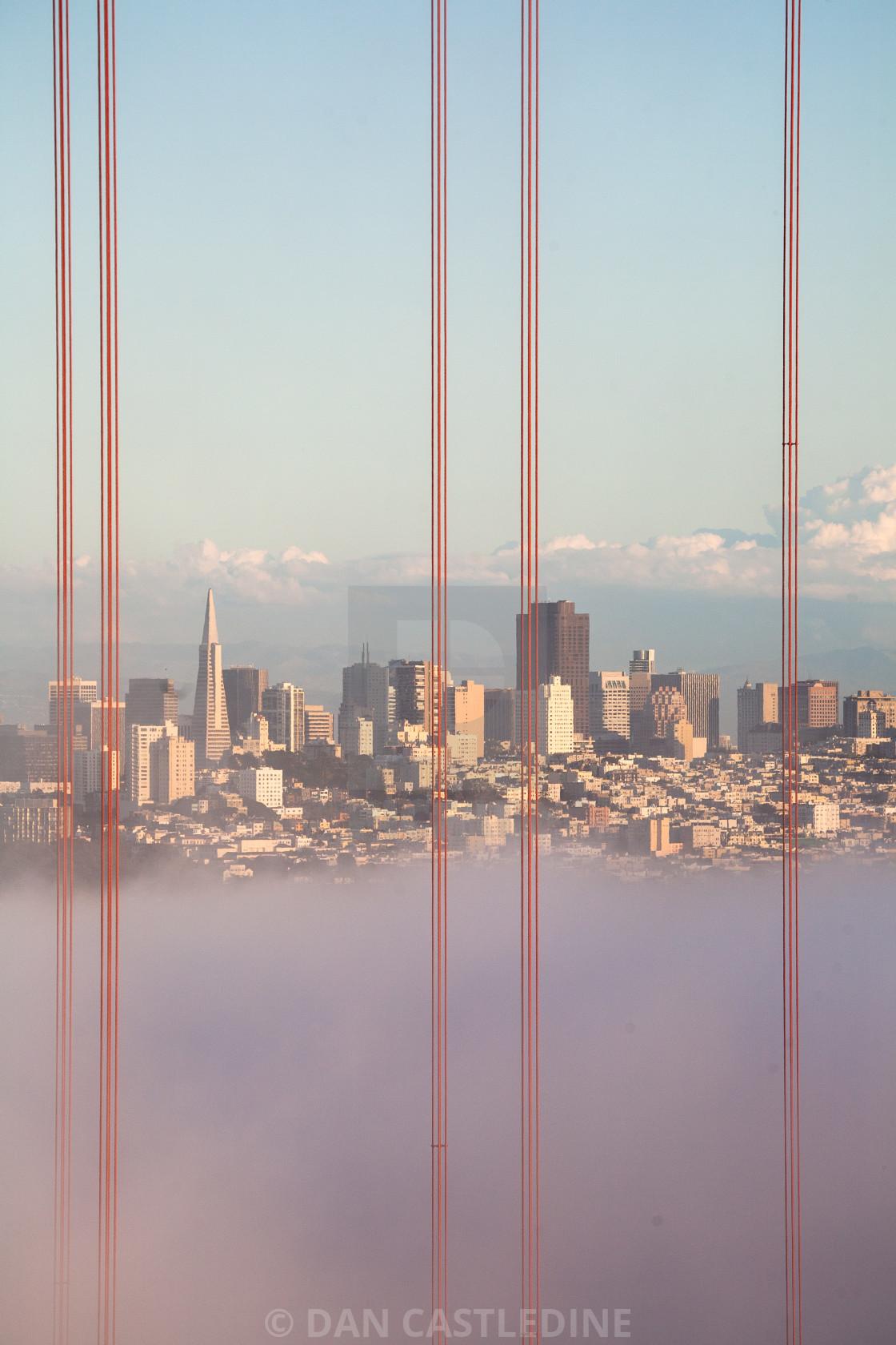 """San Francisco At Sunset"" stock image"