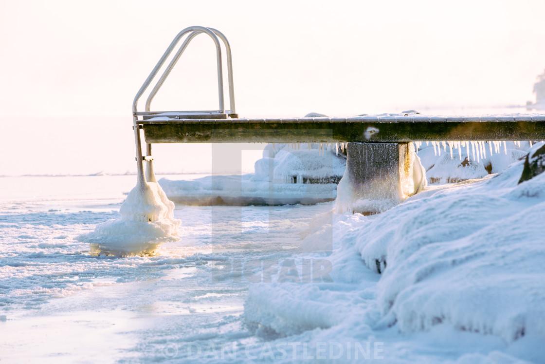 """Frozen Jetty"" stock image"