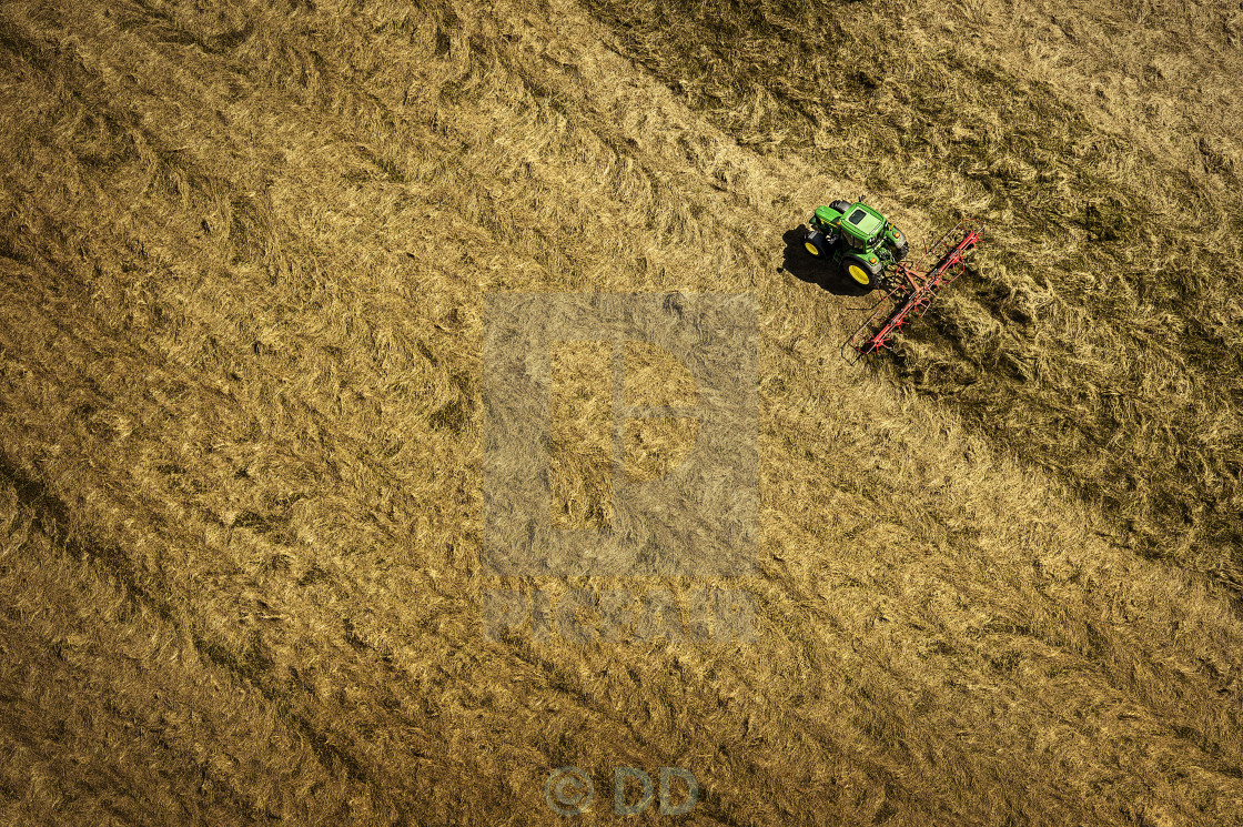 """GREEN TRACTOR"" stock image"