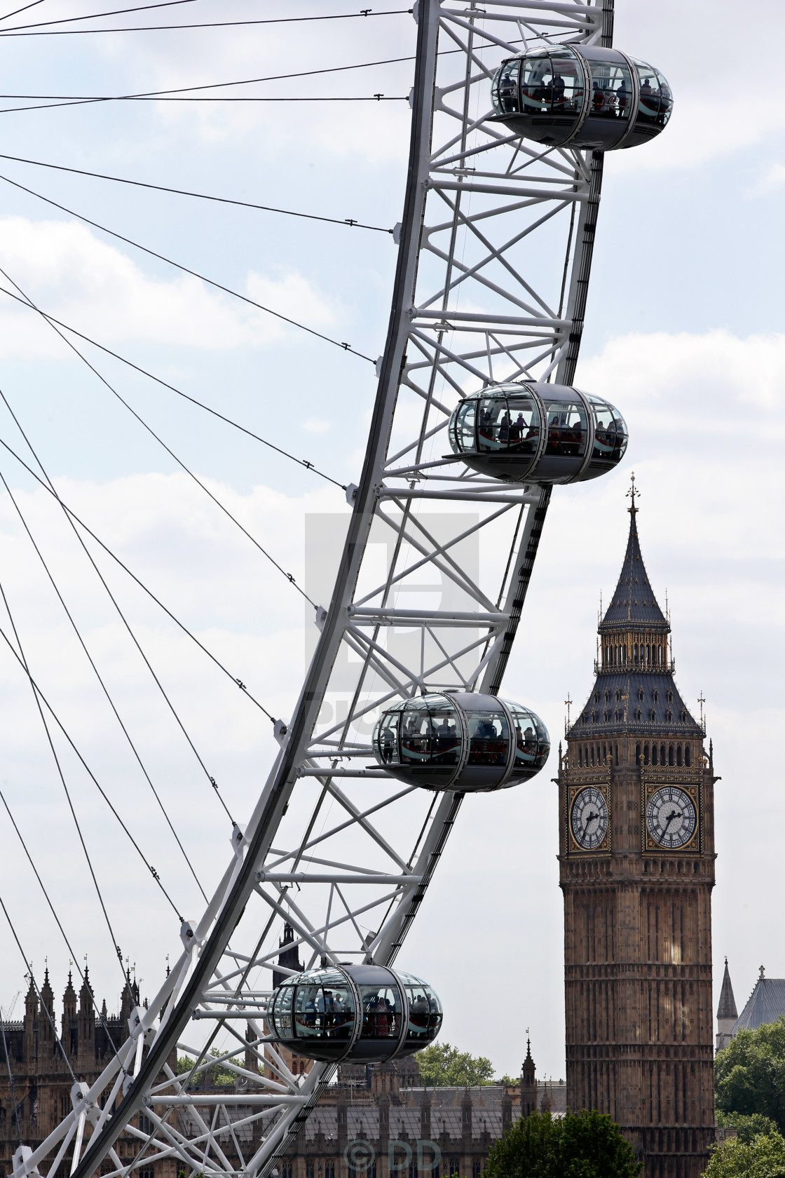 """Big Ben and London Eye"" stock image"
