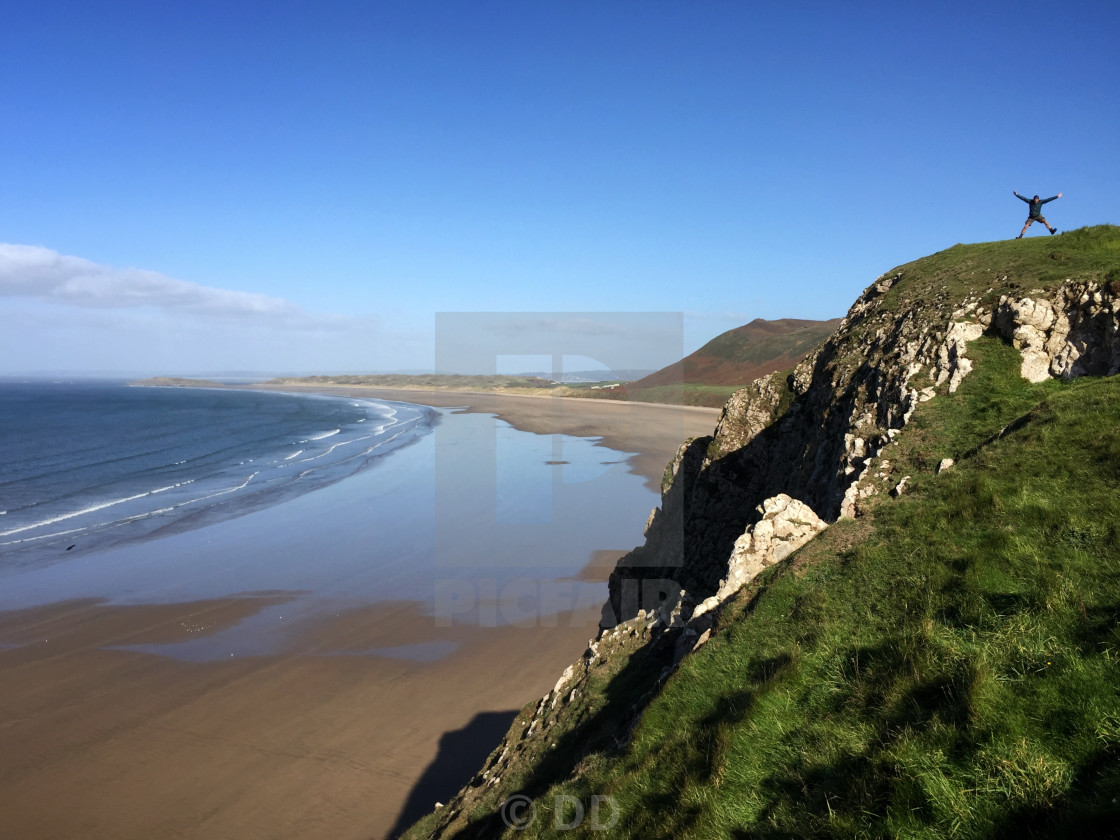 """Rhossili Bay in Wales"" stock image"