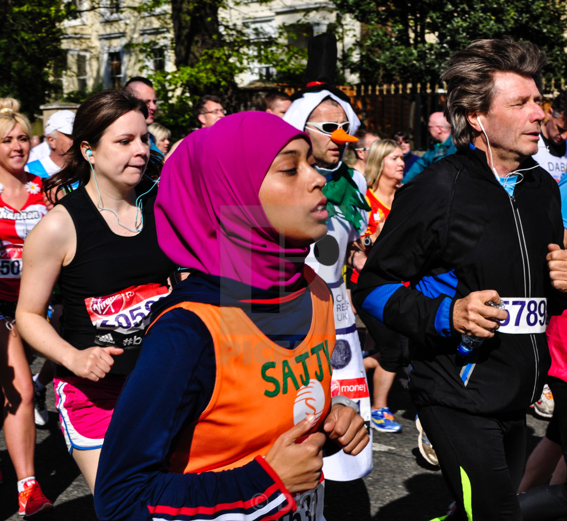 """London Marathon 2014"" stock image"
