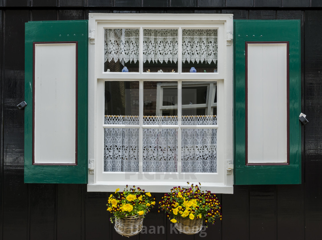Window With Shutters In Marken License Download Or Print