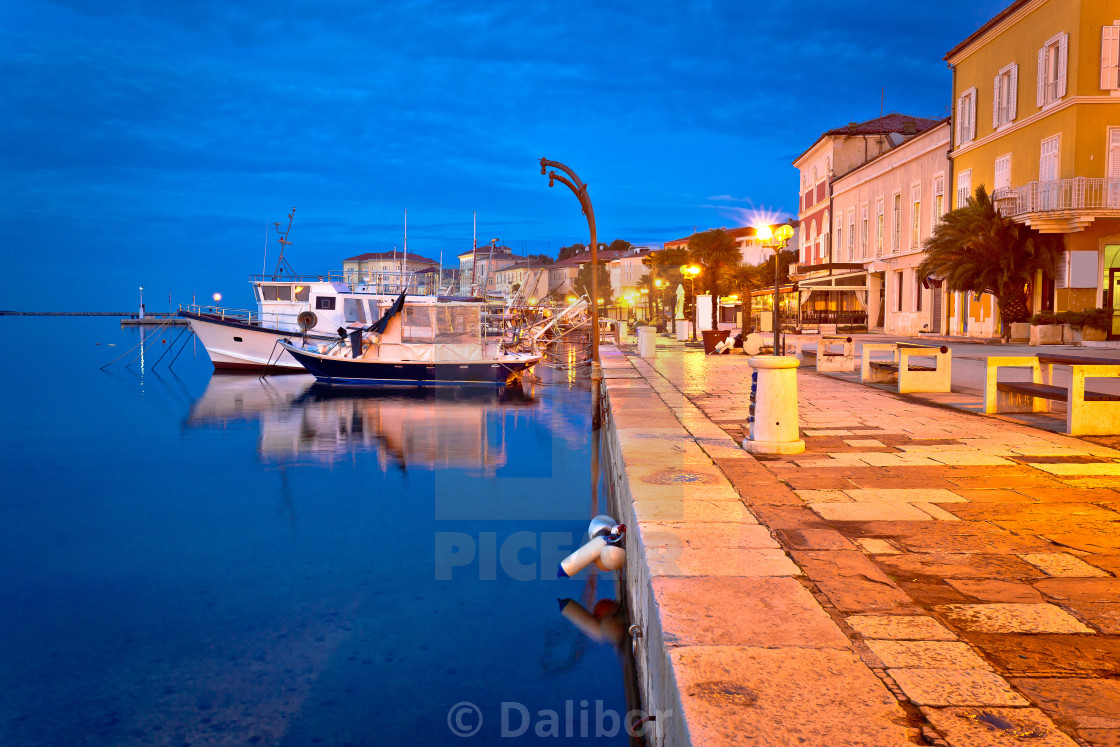 """""""Town of Porec waterfront evening view"""" stock image"""