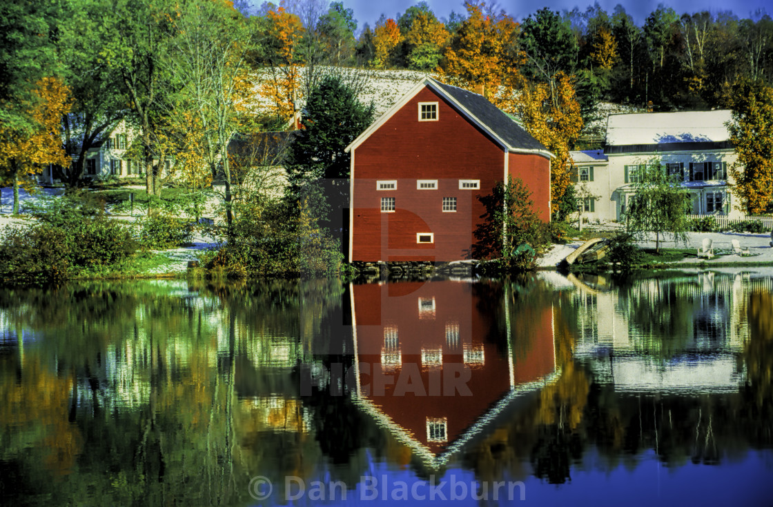 """Fall Color in New England"" stock image"