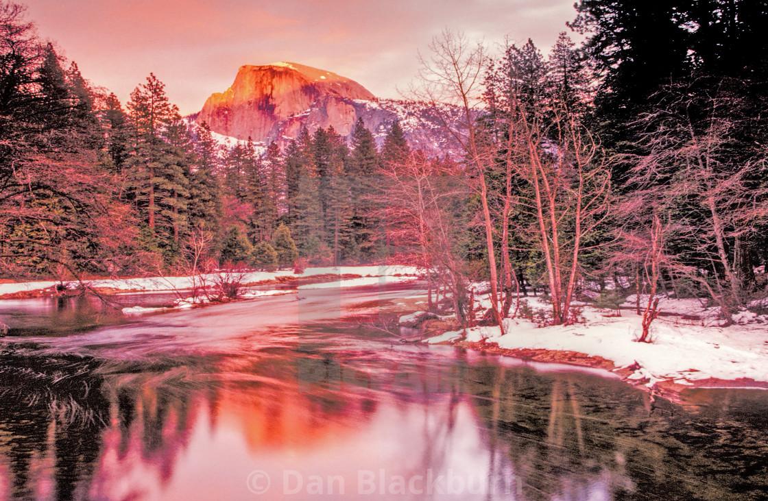 """Sunset on Half Dome Yosemite"" stock image"