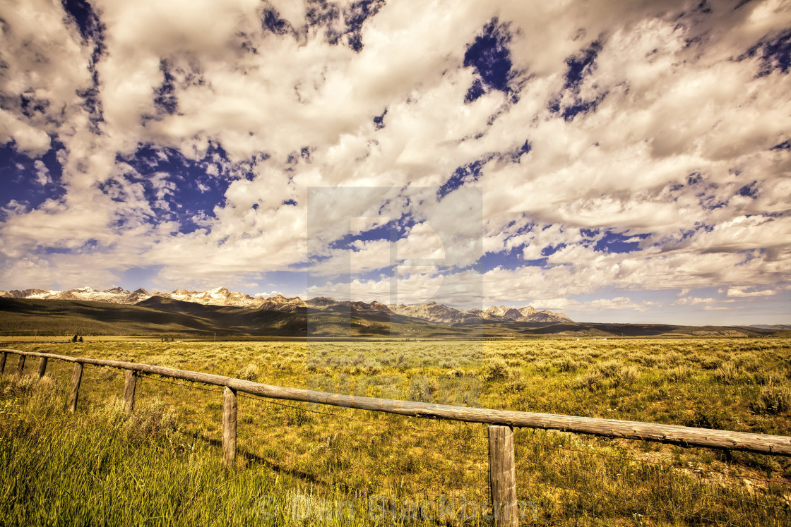 """Clouds Over Stanley Basin Idaho"" stock image"