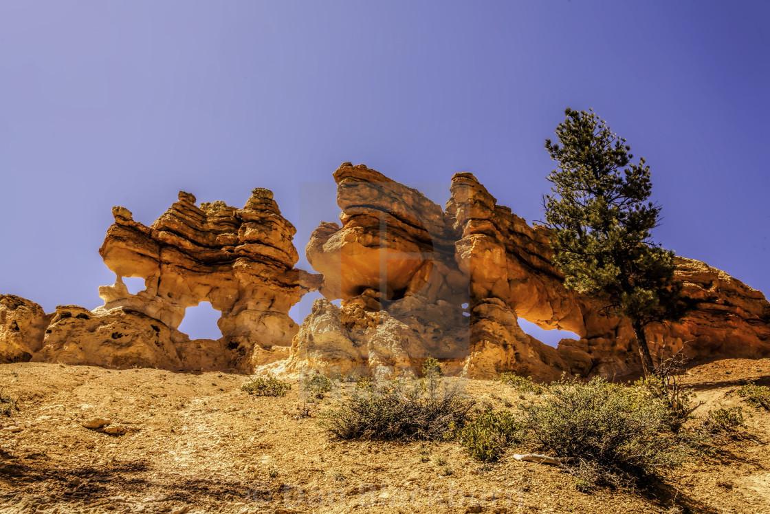 """Triple Arch at Bryce Canyon Utah"" stock image"