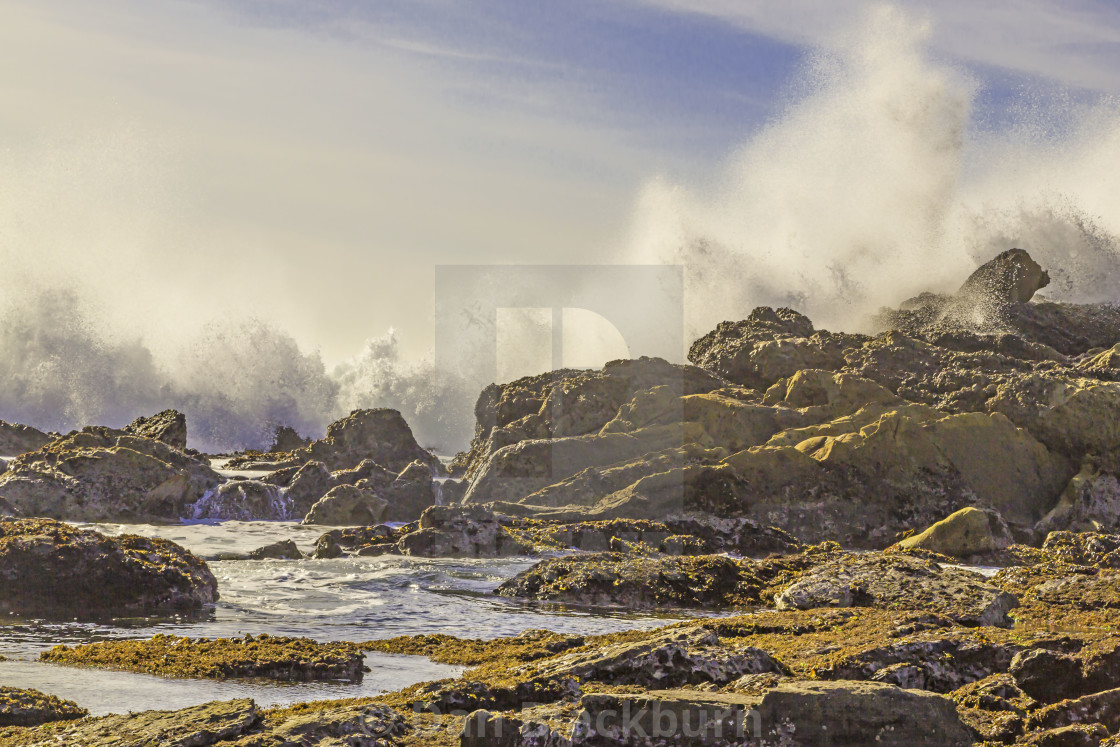"""Raging Surf on the California Coast"" stock image"