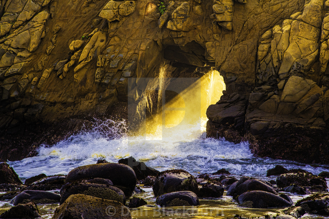 """Keyhole Arch at Sunset California"" stock image"
