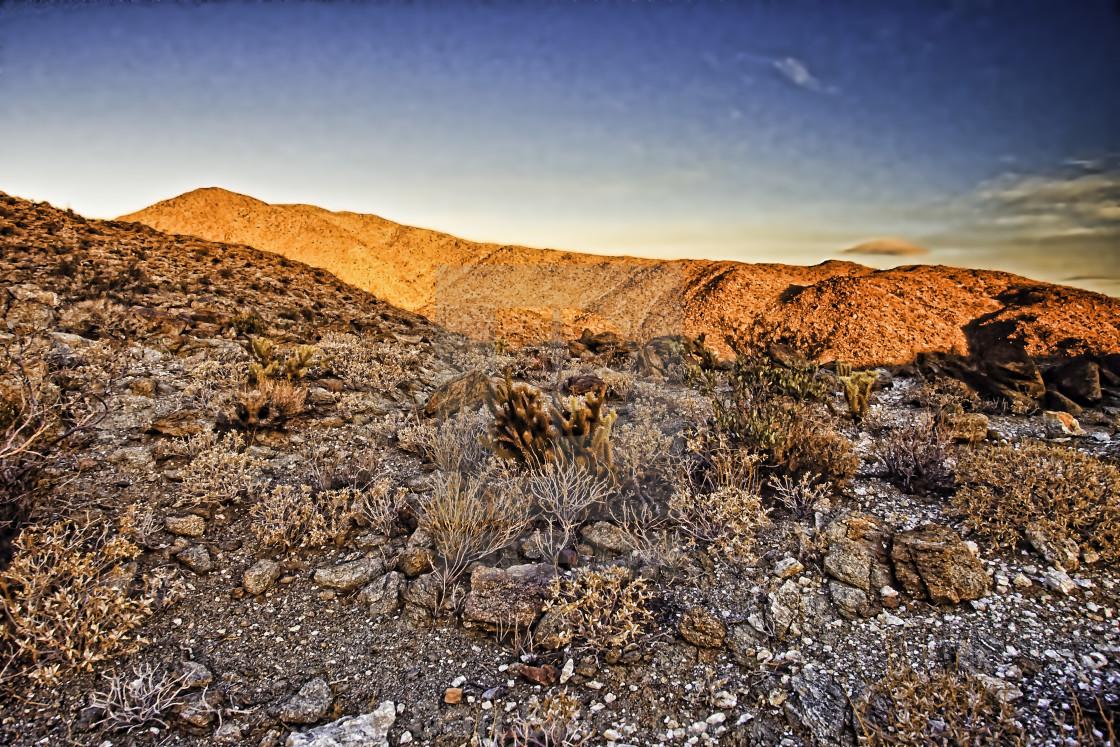 """Sunrise Anza Borrego Desert"" stock image"
