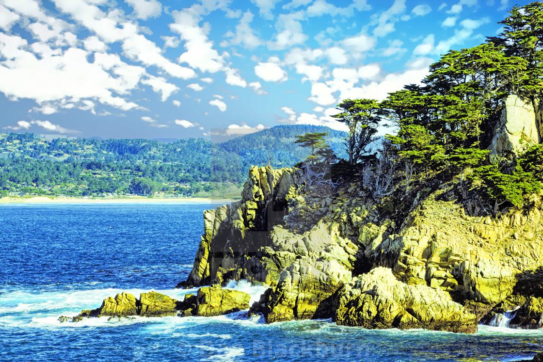 """Classic View of Big Sur Coastline California"" stock image"