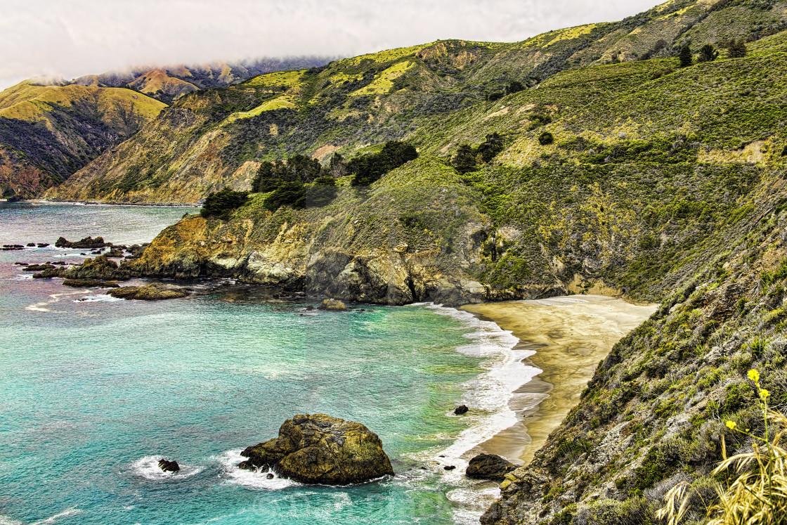 """California Coast South of Big Sur California"" stock image"