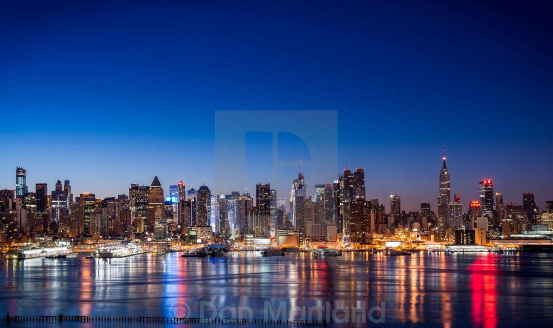 """The New York Skyline"" stock image"