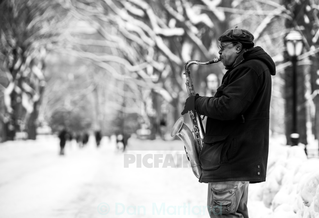 """""""Sax And The City"""" stock image"""