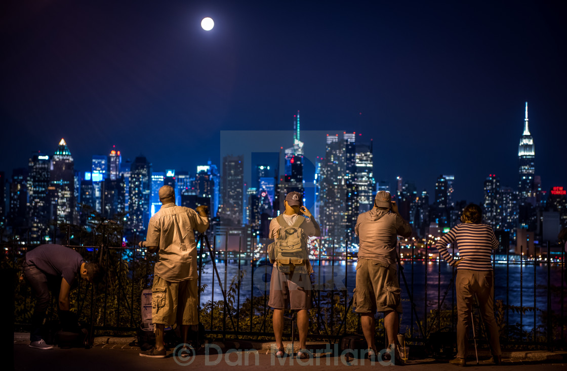 """Snappy Snappers Snapping Supermoon"" stock image"