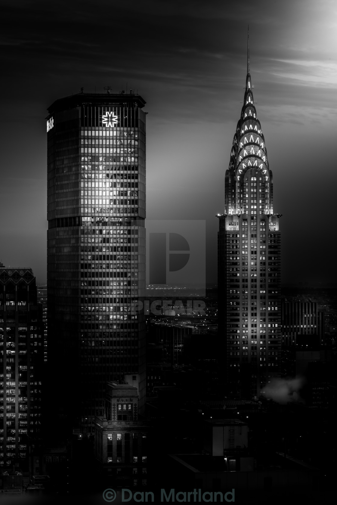 """Dark Chrysler Skies"" stock image"