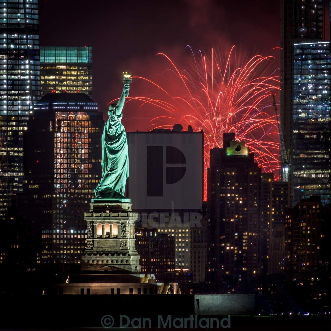 """Lady Liberty had the best view"" stock image"