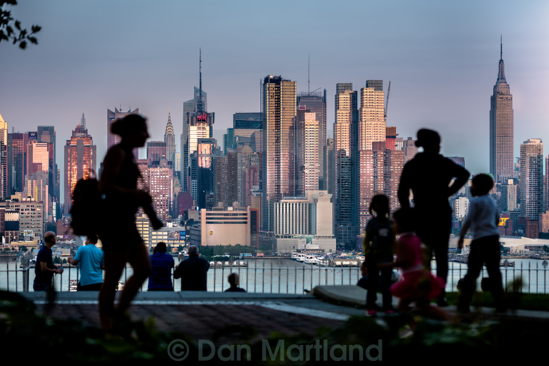 """Summer Nights, City Living"" stock image"