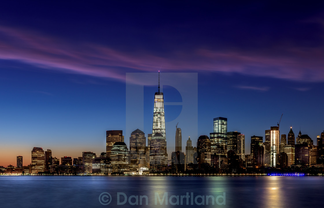 """NYC Blue Hour"" stock image"