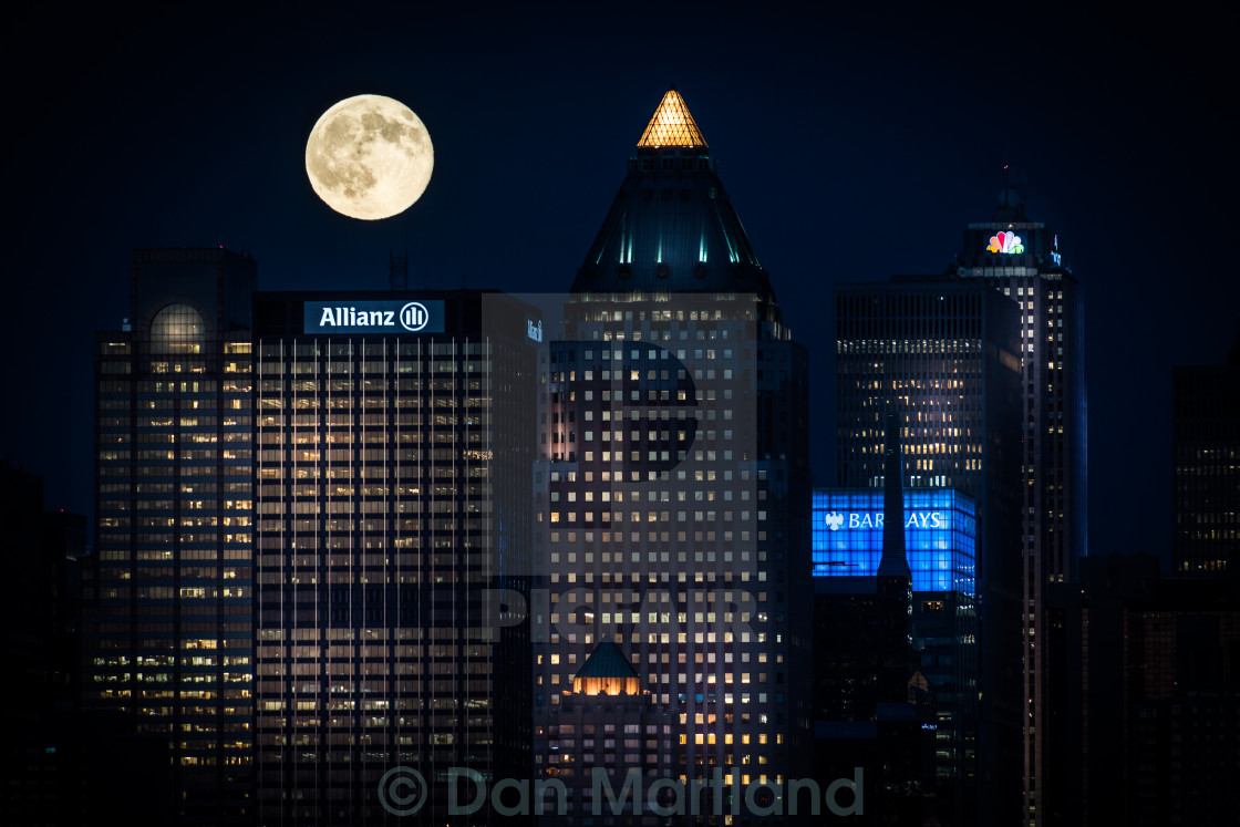 """Once in a blue moon"" stock image"