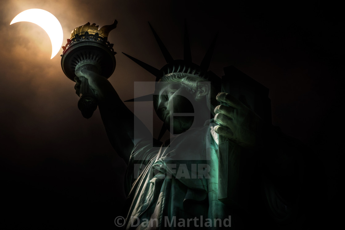 """NYC Eclipse"" stock image"